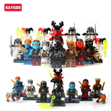 16pcs Kaygoo Ninjagoed ninja Villains figures Sets Blocks minifig Toy Yang Gereral Kozu Echo Zane Pythor Giant Stone Warrior Kai