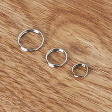 6/8/10mm 800pcs Plated Rhodium Tone Double Loops Open Jump Rings Split Rings For Jewelry Making Bracelet Necklace DIY Components