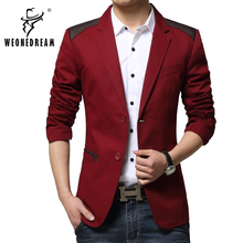 Man Causal Blazer 2017 Mens Single Breasted British Style Leisure Red Blazers Men Slim Fit Famous Blazer Jackets