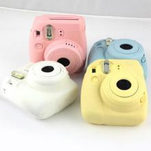 1pc New soft silicone Noctilucent Camera Case Skin Cover For Fujifilm Instax mini8/8+/9 pink/blue/white(China)