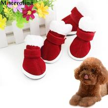 Christmas Dress Up Pet Dog Boots Puppy Shoes For Small Dog Size In Description Before Buying PDA1268(China)