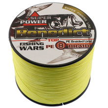 500M Strong Japan Multifilament PE Braided Fishing Line yellow fishing cord 8 strands strong saltwater fishing tackle wires