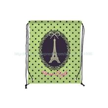 4Pcs Paris Style Custom Cute Dot Outdoor Beach Gym Swimming Clothing Shoes Towel Storage Bag Drawstring Backpack