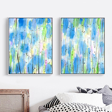 Abstract Watercolor Painting Cotton Canvas Painting Home Wall Art Decoration no Frame for Living Room Nordic Art Style Picture