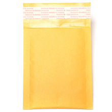 60pcs/lot Kraft Bubble Mailers Padded Bubble Envelopes Paper Bags Envelope Yellow Mailing Bag Free Shipping