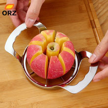 ORZ Apple Cutter Steel Slicer Vegetable Fruit Pear Peeler Divider Corer Dicing Kitchen Utensils Gadgets Tools Apple Cutter Knife(China)