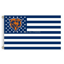 Us America Usa Country Chicago Bears Flag Banners Football Team Flags 3x5 Ft Super Bowl Champions Banner Red Star World Series