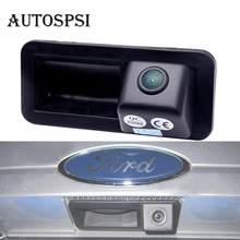 Trunk handle Car rear view Camera For FORD Mondeo /FOCUS/Range Rover, freelander2 Car Camera install on Car Trunkboot lock slot(China)