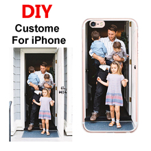 Custom DIY Print Phone Cases For Apple iPhone 5 5S SE 6 6S 7 Plus 6Plus Cover Case Personalized Silicone Soft Back Shell Bags