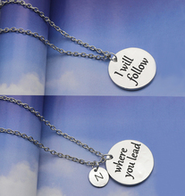 2017 New Arrival Where You Lead I Will Follow Necklace Set Gilmore Girls Gift For Best Friends Sisters Can Dropshipping YP3143