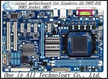 100% original  motherboard for Gigabyte GA-780T-D3L DDR3  Socket AM3+ Gigabit Ethernet free shipping