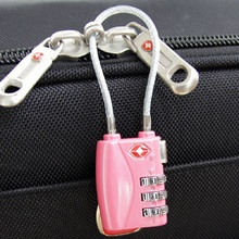 Resettable 3 Digit Combination Travel Suitcase Luggage Lock for Bag Mini TSA Password Code Padlock Black/Blue/Sliver/Red