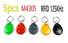 5pcs EM4305 RFID Tag Proximity Key Ring 125KHz Rewritable Copy Keyfobs RFID Card