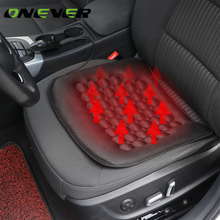 Onever Car Heated Seat Cushion Hot Cover Auto 12V Heat Heater Warmer Pad-winter Black Heater Warmer Winter Household Cushion(China)
