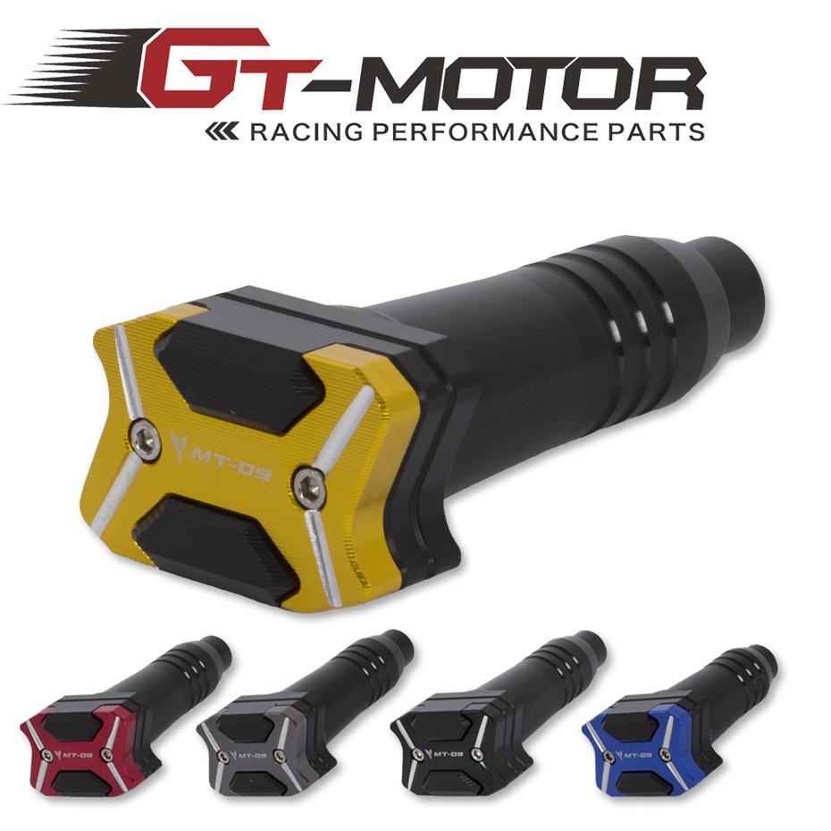 GT Motor- 2017 NEW CNC Aluminum  Left and Right Motorcycle Frame Slider Anti Crash pads Protector For  YAMAHA MT-09 MT09 14-16<br>