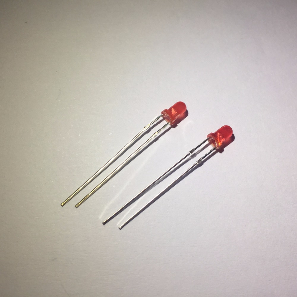 Free shipping On sale 20pcs/lot 3MM Red light emitting diode Super bright Red Led Diode 3MM Red light led LED lamp long feet(China)