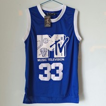 LIANZEXIN Will Smith #33 Jersey Music Television First Annual Rock N'Jock B-Ball Jam 1991 Men Blue Color Jersey On Sale