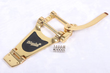 Gold color Premium Tremolo Vibrato Bridge bigsby free shipping(China)