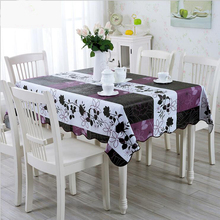 High Quality Purple 137*183cmPVC Table Cloth Plastic Waterproof Oil Dining Tablecloth Coffee Printed Table Cover Overlay