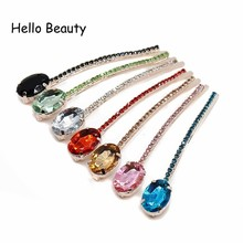 Buy Fashion Girls Hair Accessories Women Hair Jewelry Stone Hair Clip Hairpins Red Crystal Hair Rhinestone Barrette for $1.44 in AliExpress store