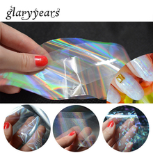 8 Designs 1 Piece Colorful Laser Holographic Foil Sticker DIY Broken Glass Rainbow Nail Decal Polish Art Transfer Wrap Tool 2018(China)