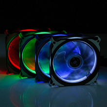 FREEZEMOD  LED cooling fan Solar eclipse concentric halo fan  for water cooling system use. FAN-RS12