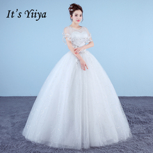 Buy New 2018 Plus Size O-neck White Red A-line Floor Length Wedding Dresses Sequins Illusion Wrap Cheap Lace Bride Gowns XXN179 for $37.91 in AliExpress store