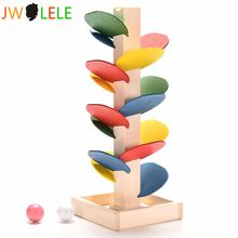 JWLELE Wooden Tree Blocks Marble Ball Run Track Game Baby Kids Children Intelligence Educational Toy