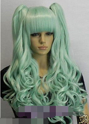 WOW perruque Girls New cosplay Fashion Cambridge blue Split type Wig for women wig<br><br>Aliexpress