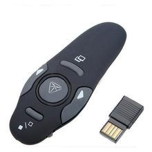 Universal 2.4GHz USB Wireless Presenter with Red Laser Pointers Pen RF Remote Control PowerPoint PPT Presentation Mouse Helper