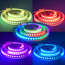 Best Price 1m 2m 4m 5m addressable WS2812B rgb led pixel strip WS2811 IC DC5V Waterproof 30/60/74/96/144 Pixels/m