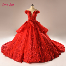 Buy Taoo Zor Luxury Appliques Lace Pattern A-Line Wedding Dresses 2017 Bridal Gown Real Photo Deep V-neck Bow Belt Robe De Mariage for $332.27 in AliExpress store