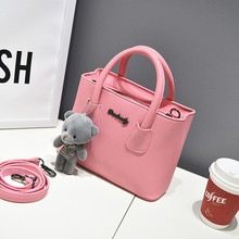Buy ZHIERNA 2017 New Korean version shoulder bag women handbags simple fashion flap bear ornaments woman messenger bag for $12.44 in AliExpress store