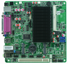 Low power supply Atom N2600 CPU Fan Embedded Industrial Motherboard ITX-H25_26(China)
