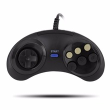 Six Buttoms Game handle Command Pad Plastic Accessories For Sega Mega drive(China)