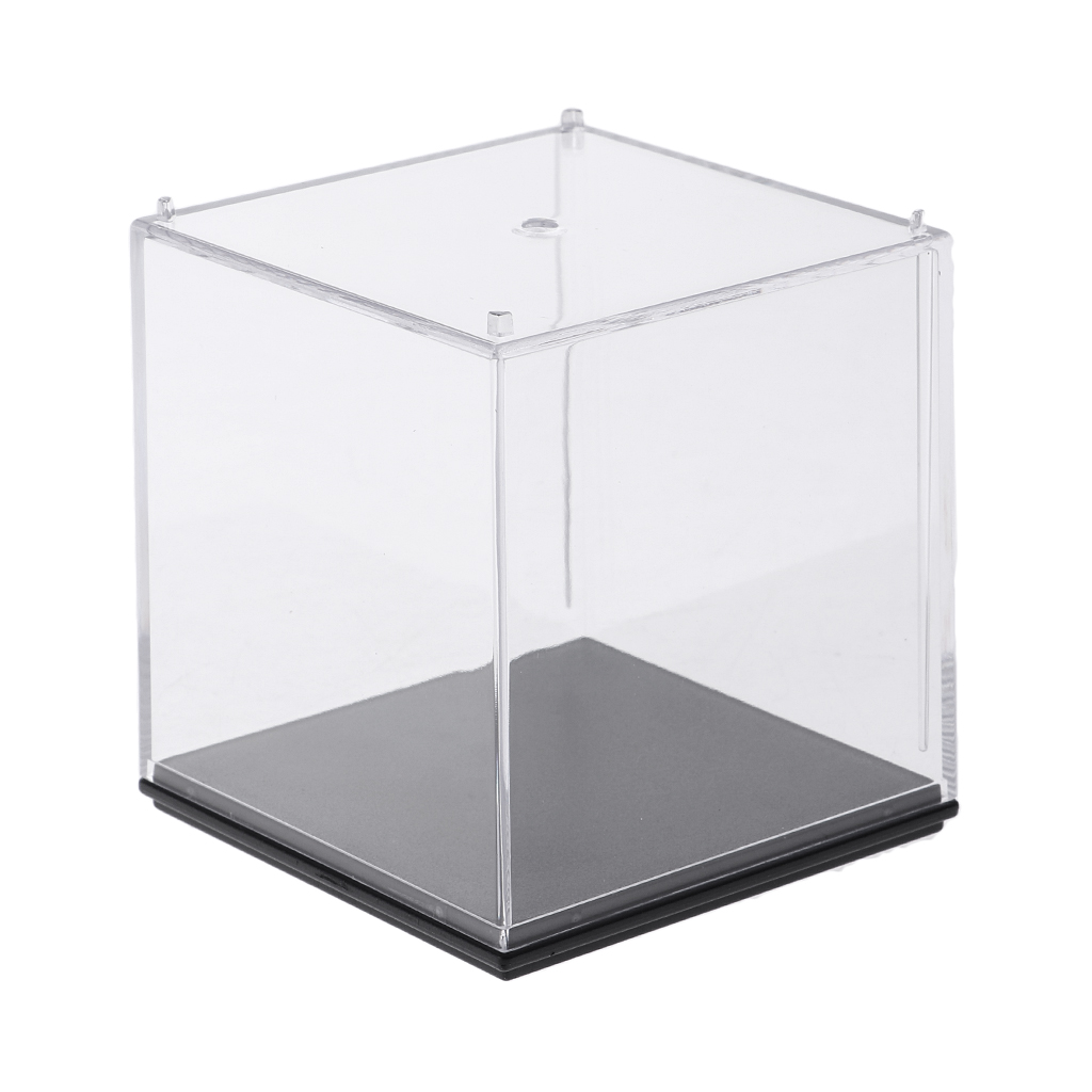 Figures Dustproof Showcase with Black Velvet Base for Dolls 9.84x5.12x3.94 inch Display Case for Collectibles Secure Assemble Cube Acrylic Box for Display with car
