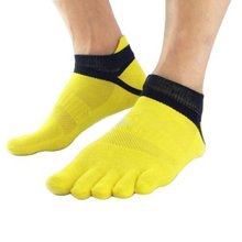 1 Pairs Men's Cotton Toe Socks Pure Esportes Five Finger Socks Breathable
