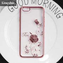 KINGXBAR Cover for iPhone 7 Plus 8 Plus Cover Swarovski Element Crystal Diamond Rhinestone Flower Case for iPhone 8 Plus Case