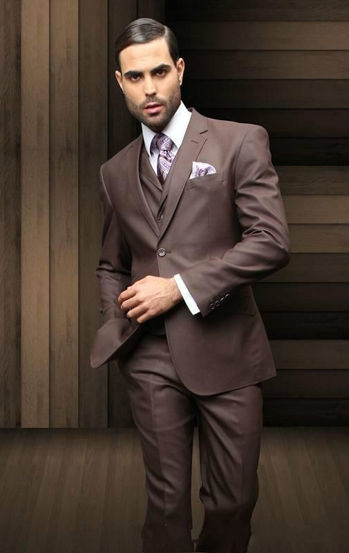 New arrival chocolate brown notch lapel best man Custom made classic party  prom wedding groom men. US  65.06. Mens Suits 2018 Terno Mens Suit ... faa09744c5a4