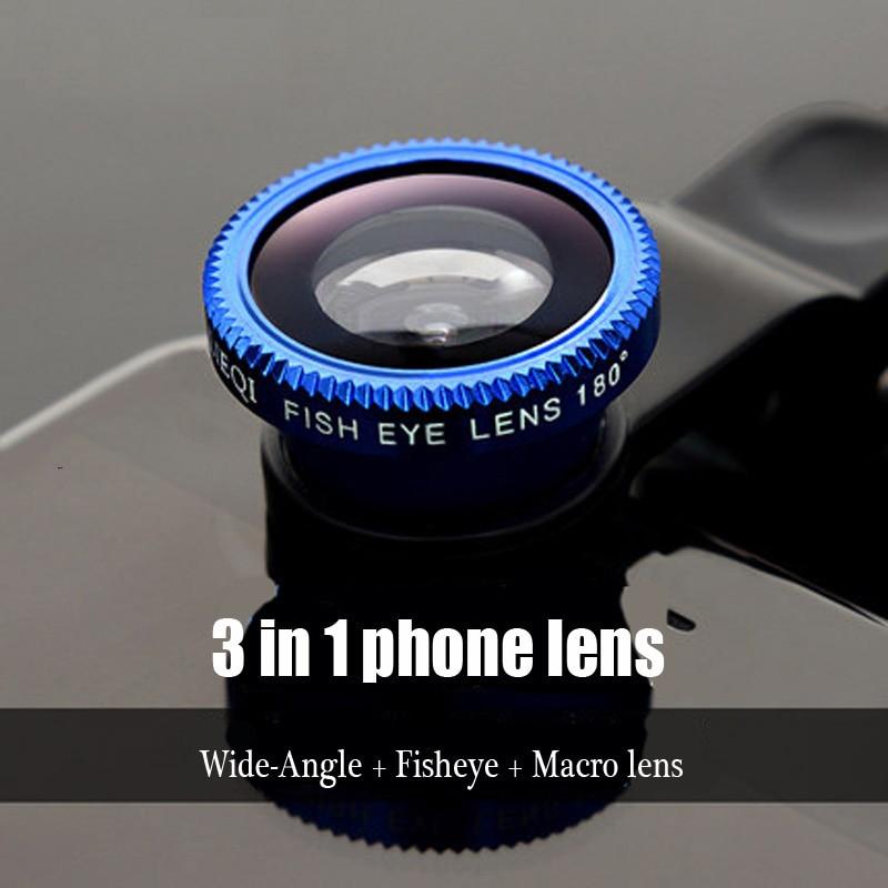 Fish Eye Universal 3 in 1 Fisheye Wide Angle Macro Camera font b Lenses b font
