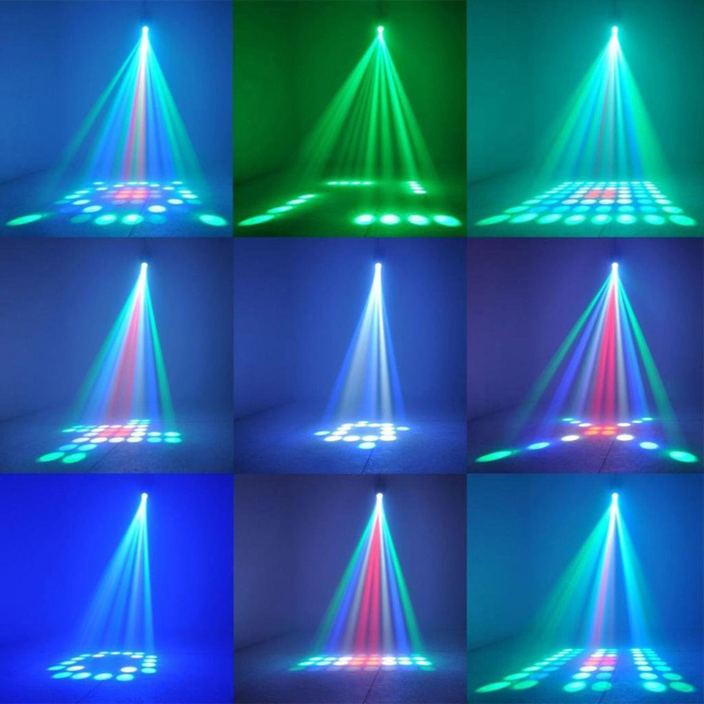 Portable Music Auto/Sound Active 64 LEDs RGBW Lights Laser Stage Effect Lighting Club Disco DJ Party Bar KTV Wedding Lights 22