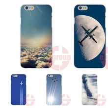 Soft TPU Silicon Friendship Cell Phone Case fly clear blue sky airplane For Apple iPhone 4 4S 5 5C SE 6 6S 7 7S Plus 4.7 5.5