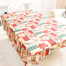 1Pc Creative Home Kitchen Dining Table Decorations Christmas Tablecloth Rectangular Party Table Covers Christmas Ornaments 2017