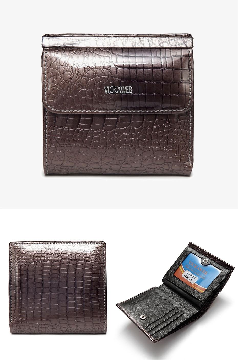 VICKAWEB Mini Wallet Women Genuine Leather Wallets Fashion Alligator Hasp Short Wallet Female Small Woman Wallets And Purses-AE209-021