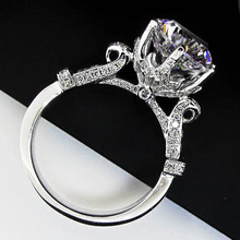 Quality Guarante Lord Ring Genuine 14K White Gold 5Carat Diamond Ring Engagement Ring Fine Jewelry 14K Solid Gold Ring