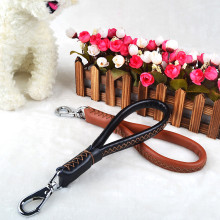 1 pc Leather Dog Collars And Leashes High Quality Short Pet Leash Belt Traction Rope For Dogs Breed Accessories VDX80 P30(China)