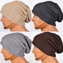 Men's Knit Baggy Beanie Oversize Winter Hat Ski Slouchy Cap Skull(China)