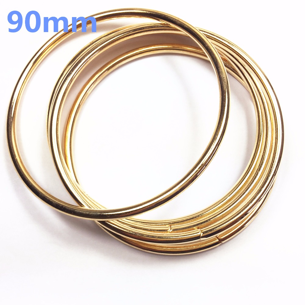 14-  90mm O rose gold Ring Openable Keyring Leather Bag Belt Strap Dog Chain Buckle Snap Clasp Clip Trigger Accessories DIY