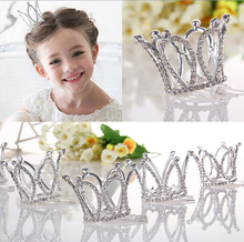 Kids Girls Glitter Crystal Rhinestone Twinkle Princess Crown Tiara Flower Girl Wedding Birthday Prom Hair Accessories(China)