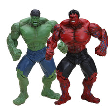 26cm Super Hero The Avengers Green Red Hulk Action Figures Toys PVC Model Dolls can choose(China)